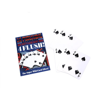 Flush By Nick Trost Magic Tricks White Playing Card Poker Magic - Mirage Novelty World