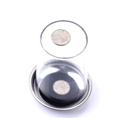 1 Pcs Coin Penetrates Into The Cup Tricks The Good Stretch COINS Through The Glass Magical Steel Cup Mat Magic - Mirage Novelty World