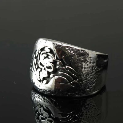 925 sterling silver silver ring skeleton imports chic pattern - Mirage Novelty World