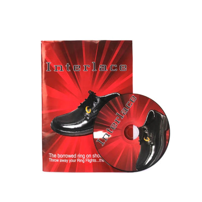 Interlace By Richard Sanders (DVD+Gimmick) Magic Tricks Ring Into Shoes Magic Close Up Magic Tool - Mirage Novelty World