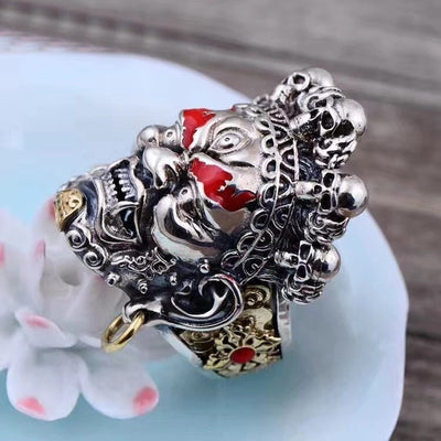 S925 sterling silver men retro ring - Mirage Novelty World