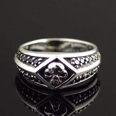 Thailand imports 925 sterling silver, black silver ring skeleton and meticulous - Mirage Novelty World
