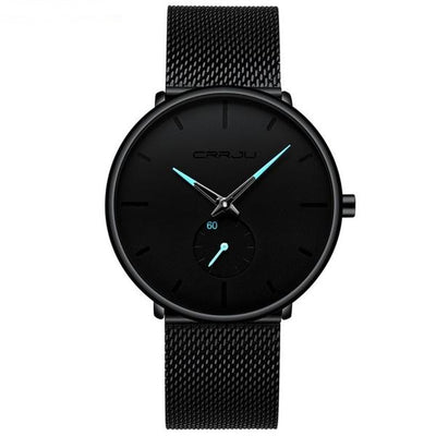 Fashion Mens Watches Top Brand Luxury Quartz Watch Men Casual Slim Mesh Steel - Mirage Novelty World