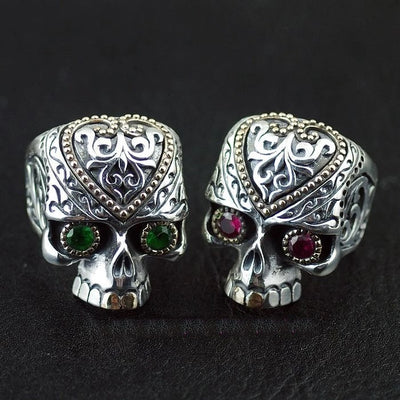 Thailand imports, 925 Silver Skull blood gorgeous skull Silver Ring - Mirage Novelty World