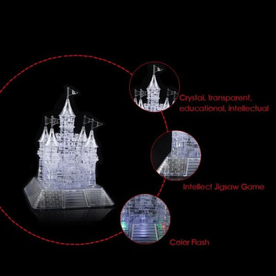 Beautiful Construction Puzzles 3d Crystal Puzzle Model with Musical& Flashing Function Castle Puzzles - Mirage Novelty World