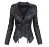 Gothic Black Faux Leather Jacket For Women - Mirage Novelty World