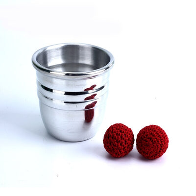 Aluminum Chop Cup - Silver,Classic Line Magnetic Cup Magic Tricks - Mirage Novelty World
