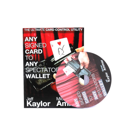 Any Card To Any Spectator'S Wallet (DVD + Gimmick) Magic Trick Black Color Street Close-Up Stage - Mirage Novelty World