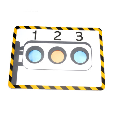 Stage Traffic Lights(With 3 Pcs Silk ) Magic Tricks Hole Silk Color Change Board Magic - Mirage Novelty World