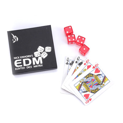 Elevated Dice Matrix Magic Trick (Blue Or Red Random Shipping) Close Up Magic Tricks Illusion Magic - Mirage Novelty World