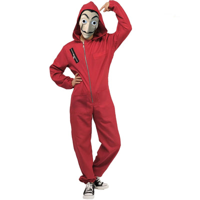 Women's La Casa De Papel Salvador Dali Cosplay Red Jumpsuit Costume Salvador Dali  Movie Halloween Party Costumes - Mirage Novelty World