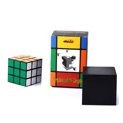 Triple Diko Cube Magic Tricks Irelia Magic Set  Illusion  Cube  Magic - Mirage Novelty World
