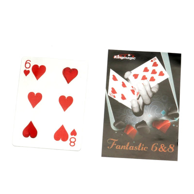 Fantastic 6 & 8 Moving Point - Card Magic Tricks  Magician Gimmick Close Up Magic Professional Mentalism - Mirage Novelty World