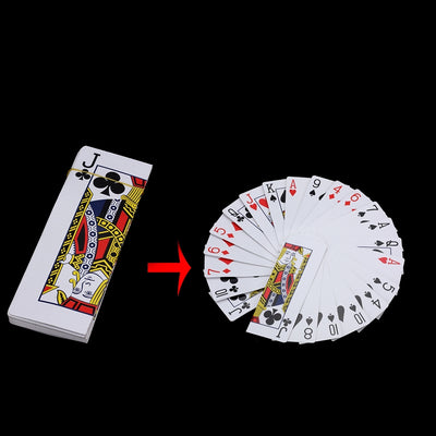 Large Card Fan Out From Hand Magic Tricks Stage Change Magic - Mirage Novelty World