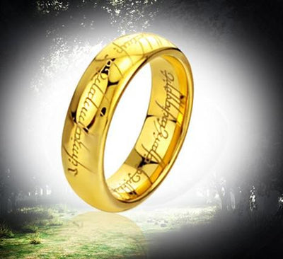 Men's the Lord of the Ring,power pure tungsten steel gold plated rings,power finger Ring - Mirage Novelty World