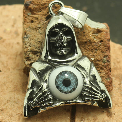 316L Stainless Steel Cool Eyeball Skull Pendant Newest - Mirage Novelty World