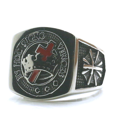 Mens Boys 316L Stainless Steel Cool Silver Signo Freemasons Ring Newest - Mirage Novelty World