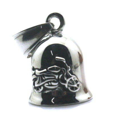 Mens Boys 316L Stainless Polishing Silver Small and Exquisite Jingle Bell Cool Motorcycle Biker Pendant - Mirage Novelty World