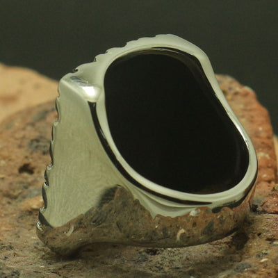 Square Spade Heart 316L Stainless Steel Cool Silver Ring Biker Rock Party Best Gift - Mirage Novelty World