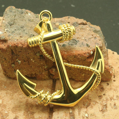316L Stainless Steel Cool Punk Gothic Anchor Silver Pendant - Mirage Novelty World