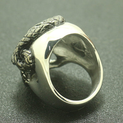 Unisex 316L Stainless Steel Cool Silver Skull Cool Snake Ring Gift High Quality - Mirage Novelty World