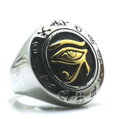 Newest Unisex 316L Stainless Steel Silver Mayan Culture Golden & Silver Ring - Mirage Novelty World