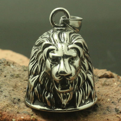 Men 316L Stainless Silver Big Lion Jingle Bell Cool&Hot Newest Pendant - Mirage Novelty World
