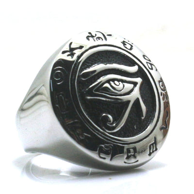 Newest Unisex 316L Stainless Steel Silver Mayan Culture Silver Ring - Mirage Novelty World