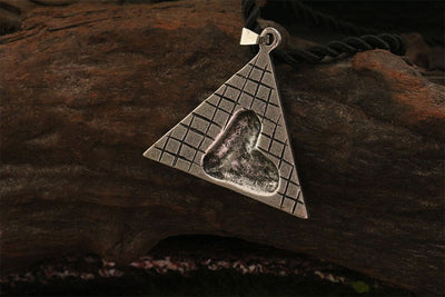 Egyptian Silver Pharaoh Tut Portrait Pyramid ,High Relief Pendant - Mirage Novelty World
