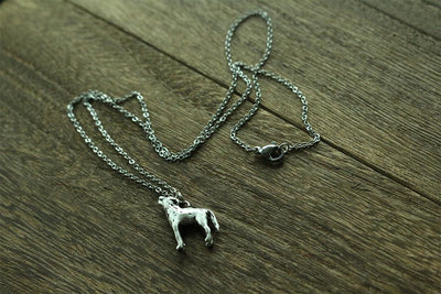 Howling Wolf  3D necklace Sided antique silver plated zinc alloy double sided wolf pendant - Mirage Novelty World