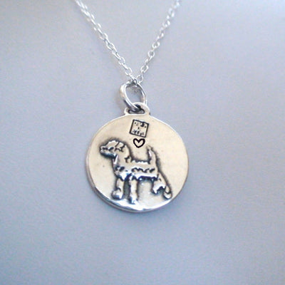 Inspirational Dog Charm NecklaceCute Ancient silver Animal girl Friends Pendant - Mirage Novelty World