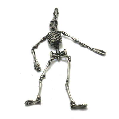 Cool Skull Cranium Long Pendant 316L Stainless Steel Silver Gift For Friend Best - Mirage Novelty World