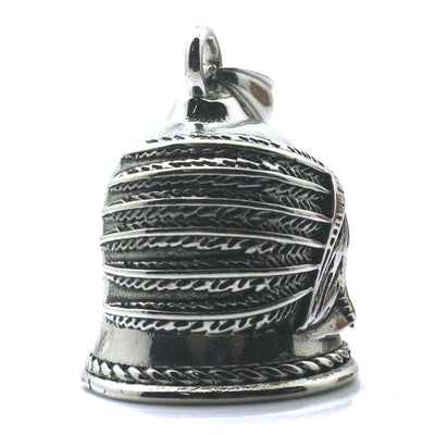 Boy 316L Stainless Punk Gothic Cool Newest Silver Indian Bell Pendant - Mirage Novelty World