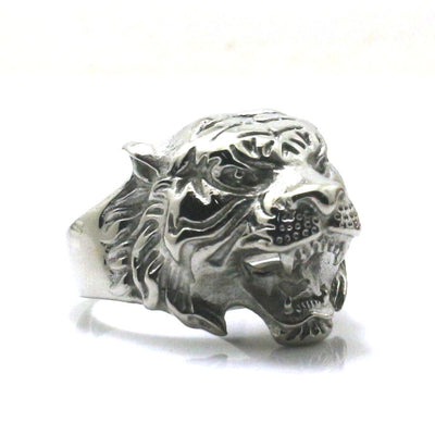 Mens Boys 316L Stainless Steel Cool Ferocious Big Tiger Ring Newest - Mirage Novelty World