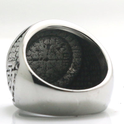 Mens 316L Stainless Steel Cool Silver Viking Amulet Newest Ring - Mirage Novelty World