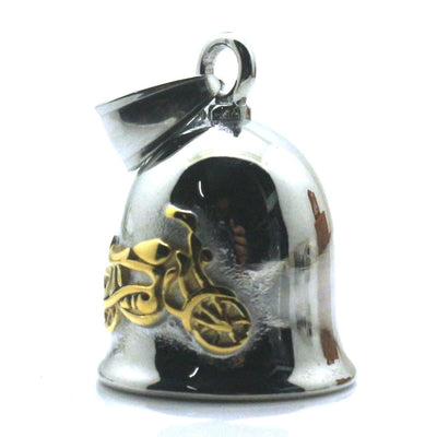 316L Stainless Polishing Silver&Golden Cool Motorcycle Biker Jingle Bell Pendant - Mirage Novelty World