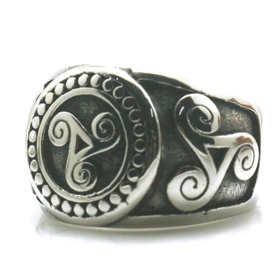 Mens Boys 316L Stainless Steel Cool Silver Vintage Ring Newest - Mirage Novelty World