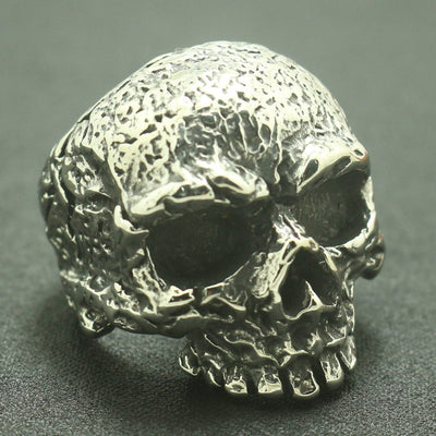 Mens 316L Stainless Steel Cool Punk Gothic Newest Biker Evil Demon Flaming Skull Ring - Mirage Novelty World