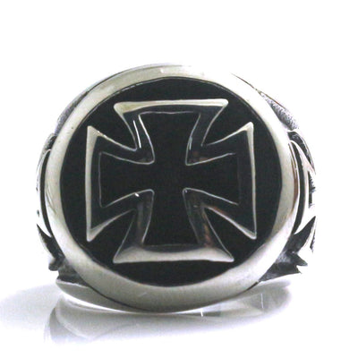 Mens 316L Stainless Steel Fashion Cool Cross Ring - Mirage Novelty World