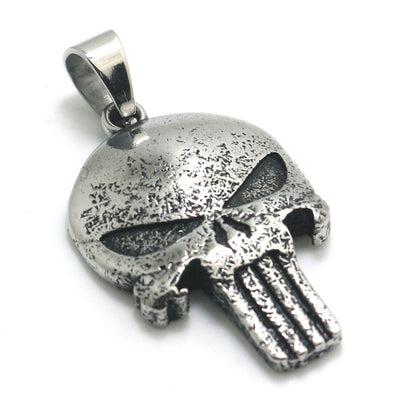 Mens Boys 316L Stainless Steel Punk Gothic The Punisher Vintage Style Newest Pendant - Mirage Novelty World
