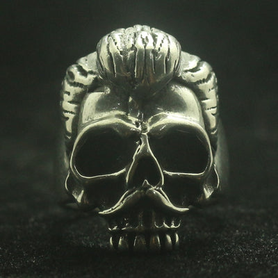 Mens 316L Stainless Steel Cool Punk Gothic Cool Biker Skull Motorcycle Style Ring - Mirage Novelty World