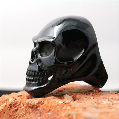 316L Stainless Steel Cool Polishing Black Big Skull Newest Design Ring - Mirage Novelty World