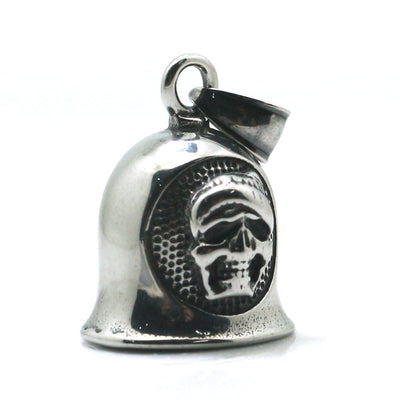 316L Stainlesss Steel Cool Punk Gothic Silver Biker Bell Pendant - Mirage Novelty World