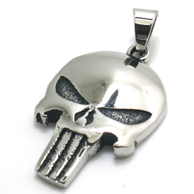 Mens Boys 316L Stainless Steel Cool Polishing Silver The Punisher Newest Pendant - Mirage Novelty World