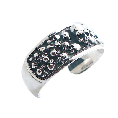 Mens 316L Stainless Steel Cool Big Punk Gothic Evil Demon Skull Classic Biker Heavy Bangle - Mirage Novelty World