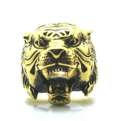 Mens Boys 316L Stainless Steel Tiger Cool Ring Three kinds of color selection - Mirage Novelty World