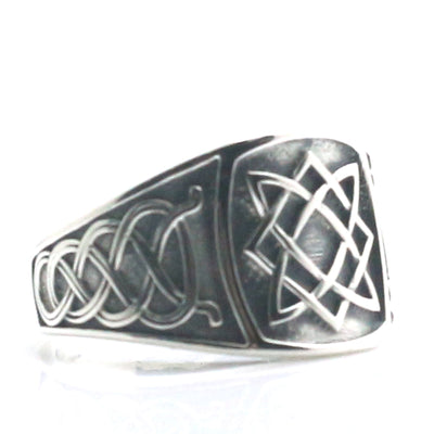 "Unisex 925 Silver Cool Vikings Slavic ""star of all"" Amulet Ring - Mirage Novelty World"