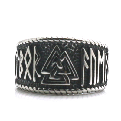 Mens 316L Stainless Steel Cool Silver Classic Hot Viking Ring - Mirage Novelty World