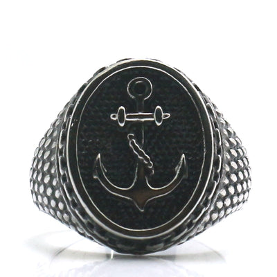 Mens 316L Stainless Steel Classic Hot Anchor Ring - Mirage Novelty World