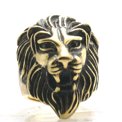 Mens 316L Stainless Steel Cool Classic Lion King Cool Ring - Mirage Novelty World